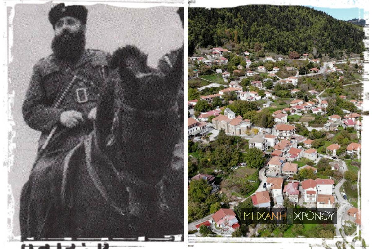 """Οι πρώτες νικηφόρες μάχες της αντίστασης. Στο Κρίκελλο ο Άρης Βελουχιώτης πήρε λάφυρο το διάσημο """"μαύρο άτι"""" του. Δείτε το χωριό (drone)"""