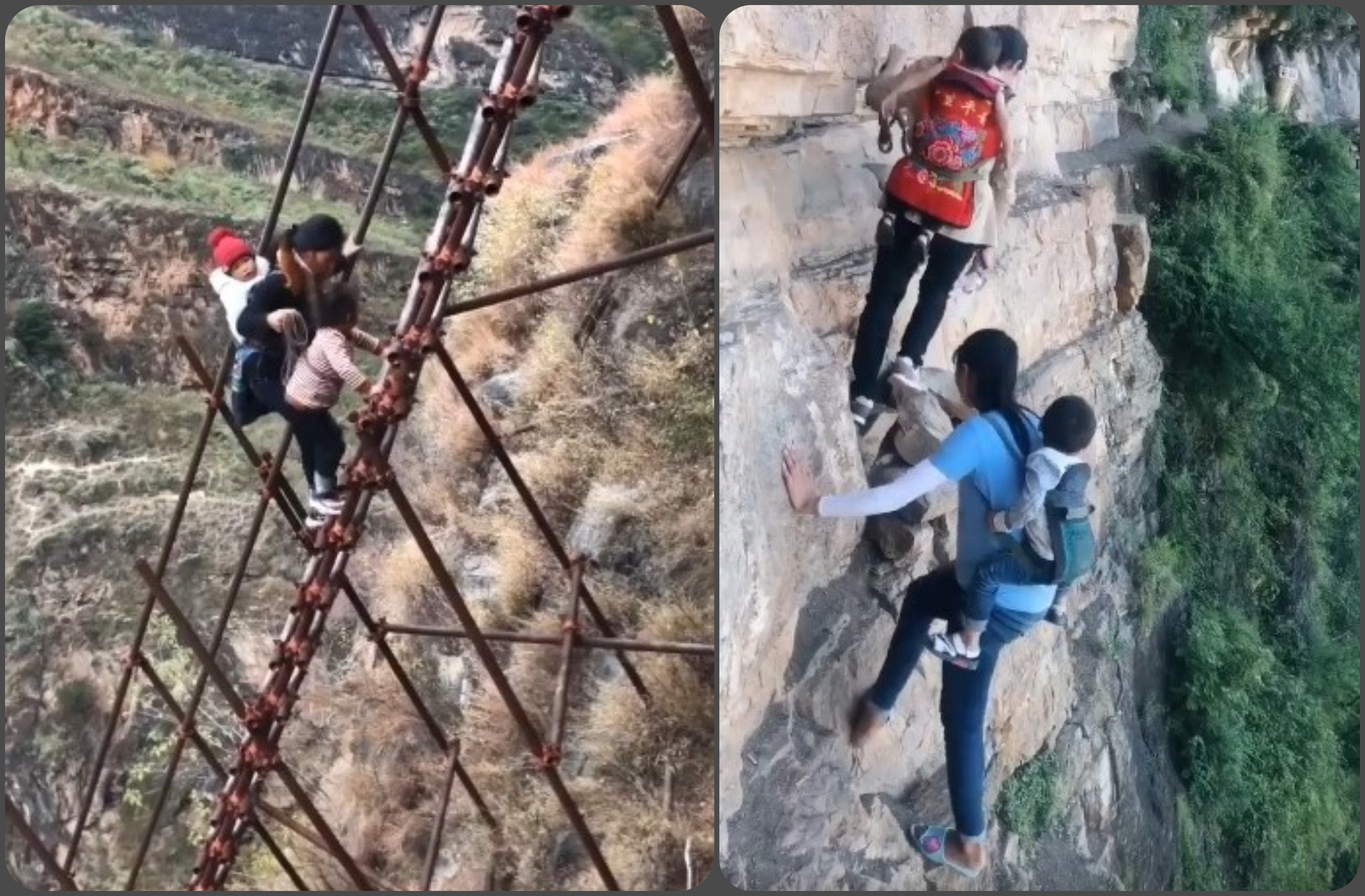 Το χωριό του γκρεμού, είναι ένα από τα πιο ριψοκίνδυνα μέρη της γης. Η πρόσβαση γίνεται με αυτοσχέδιες σκάλες που είναι δεμένες στα κάθετα βράχια. Πως έγινε αξιοθέατο