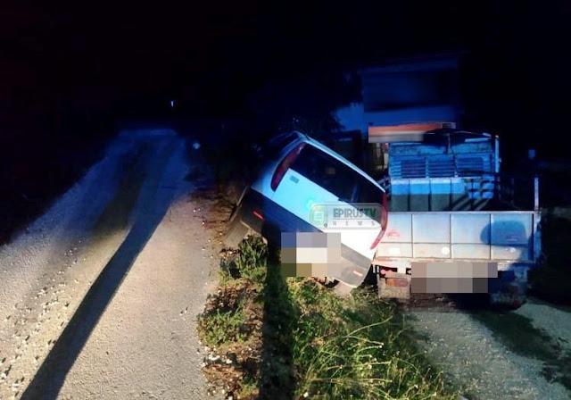 Απεγκλωβισμός θρίλερ στα Γιαννενα. Σώθηκε γυναίκα οδηγός λίγο πριν πέσει με το αυτοκίνητο στο γκρεμό