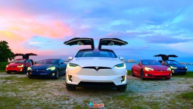 American made Tesla Model X S 3 red white and blue David Havasi CleanTechnica