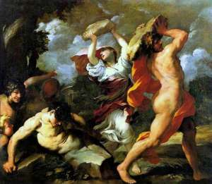 Deucalion si Pyrrha creaza oamenii
