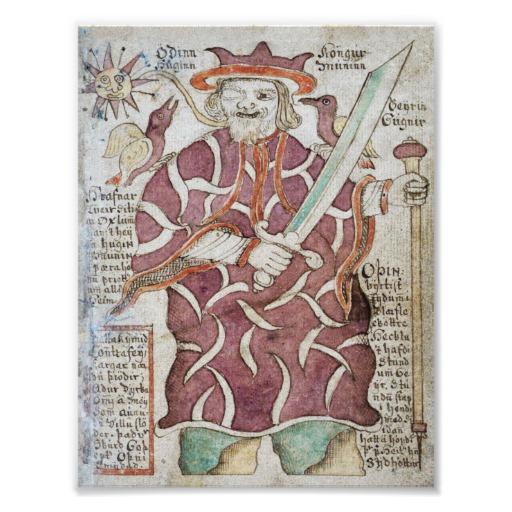 odin , cel ce a creat lumea in mitologia scandinava (2)