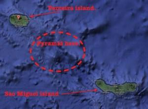 Piramida gigantica, scufundata, descoperita langa insulele Azore