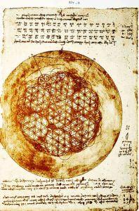 Floarea Vietii desenata de Leonardo da Vinci