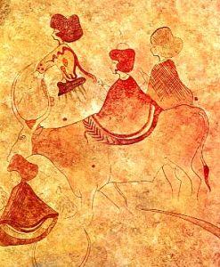 Femei reprezentate in picturile rupestre din Tassili