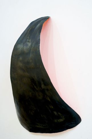 al heilman untitled 19x28x65 steel with patina and acrylic