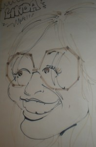 A caricature of me from the Bristol, Wisconsin Renaissance Faire, circa early 1970s. The artist captured my spirit.