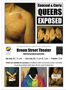 Conceal & Carry: Queers Exposed Broom Street Performance Poster 2012