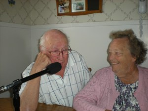 Dick & Ethel Lenzke (Mom and Dad) being interviewed by me.