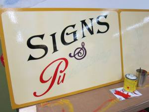 Sign from Night Light guest sign painter