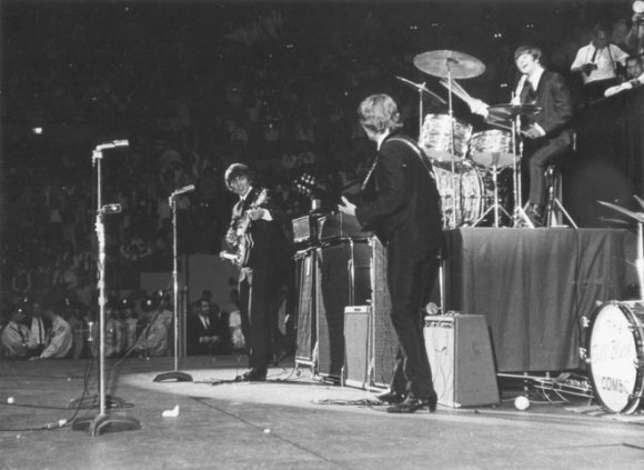 The Beatles, The Milwaukee Arena 1964. Photo Credit: Journal-Sentinel