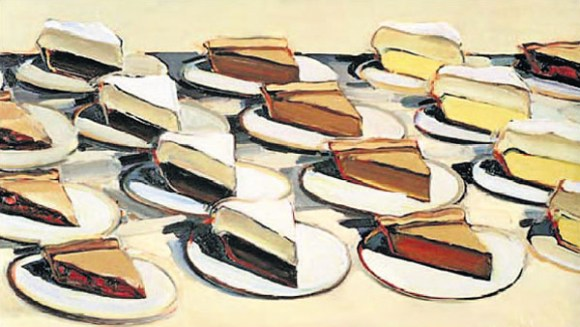 Pies, Pies, Pies - Painting by Wayne Thiebaud