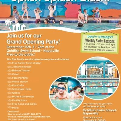 Splish Splash Grand Opening at Goldfish Swim School – Naperville!