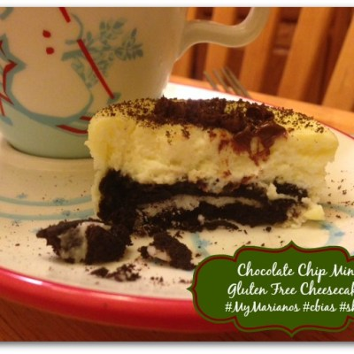 Holiday Sweets: Chocolate Chip Mint Gluten Free Cheesecakes