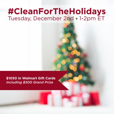 RSVP for the #CleanForTheHolidays Twitter Party