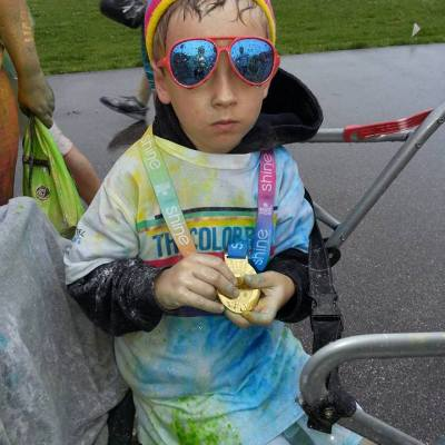 The Color Run: Charlie & Jack's First Colorful 5k #happiest5k