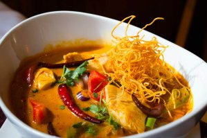 Khao Soi at Mix-It Restaurant Sushi Bar in Cambridge MA