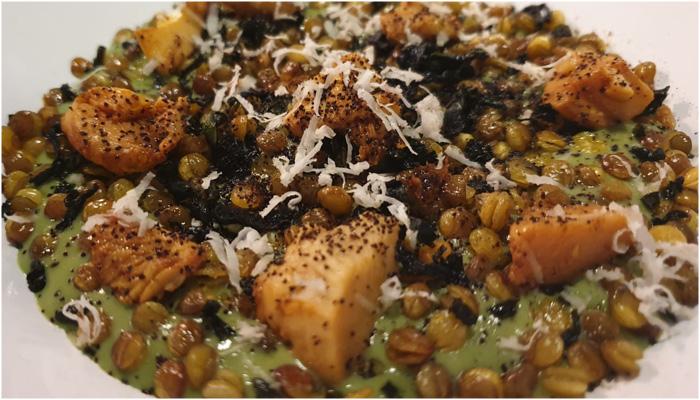 Restaurante Monastrell Rebozuelos con esparragos verdes