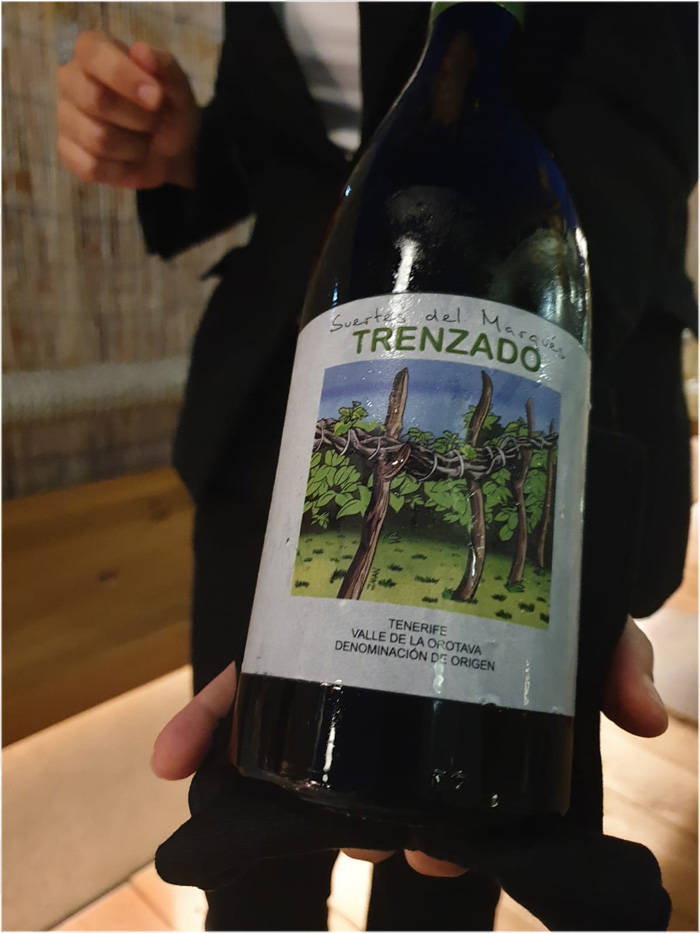 Restaurante Monastrell Vino Trenzado del Valle de la Orotava 2017