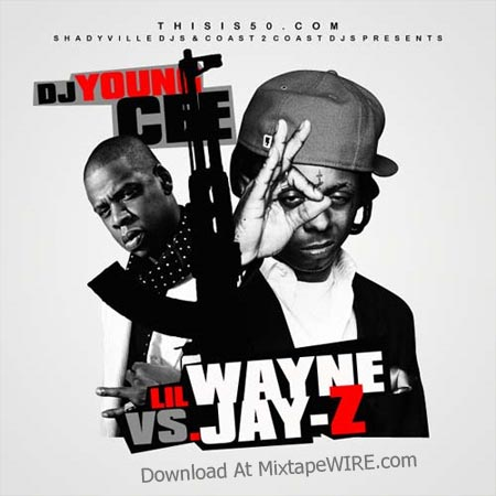 Download DJ Young Cee – Lil Wayne Vs. Jay-Z Mixtape. Cover: Tracklist: