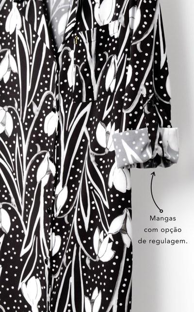 Premium — Camisola Midi Abotoada Manga Longa
