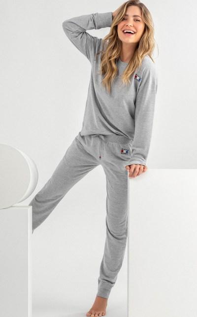 Conjunto Blusa Manga Longa com Calça