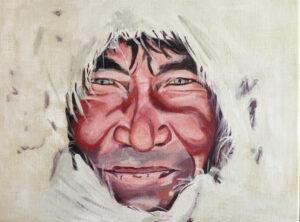 Inuit - €300,- / Acryl op doek 30 x 40