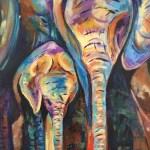 Moeder en kind - Verkocht Acryl op doek 30 x 40