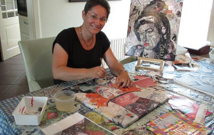 Lisette Hogewoning aan het werk