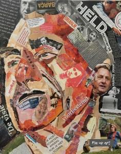 """""""Je gaat het pas zien als je het door hebt""""- Verkocht / Collage op canvas 40 x 50"""