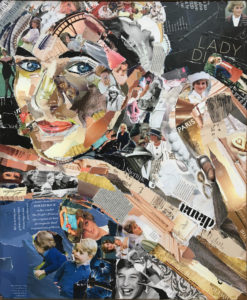 People's princess - € 550,- / Collage op canvas 50 x 60