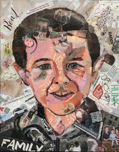 Kind - In opdracht / Collage op canvas (40 x 50)