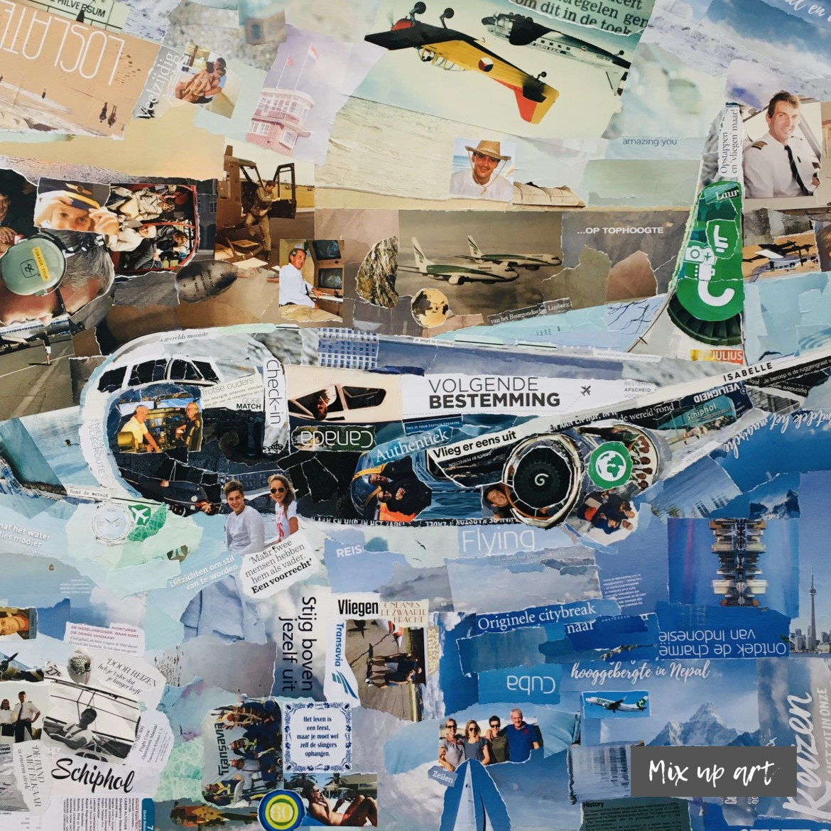 Airplane - In opdracht - Collage (80 x 80)