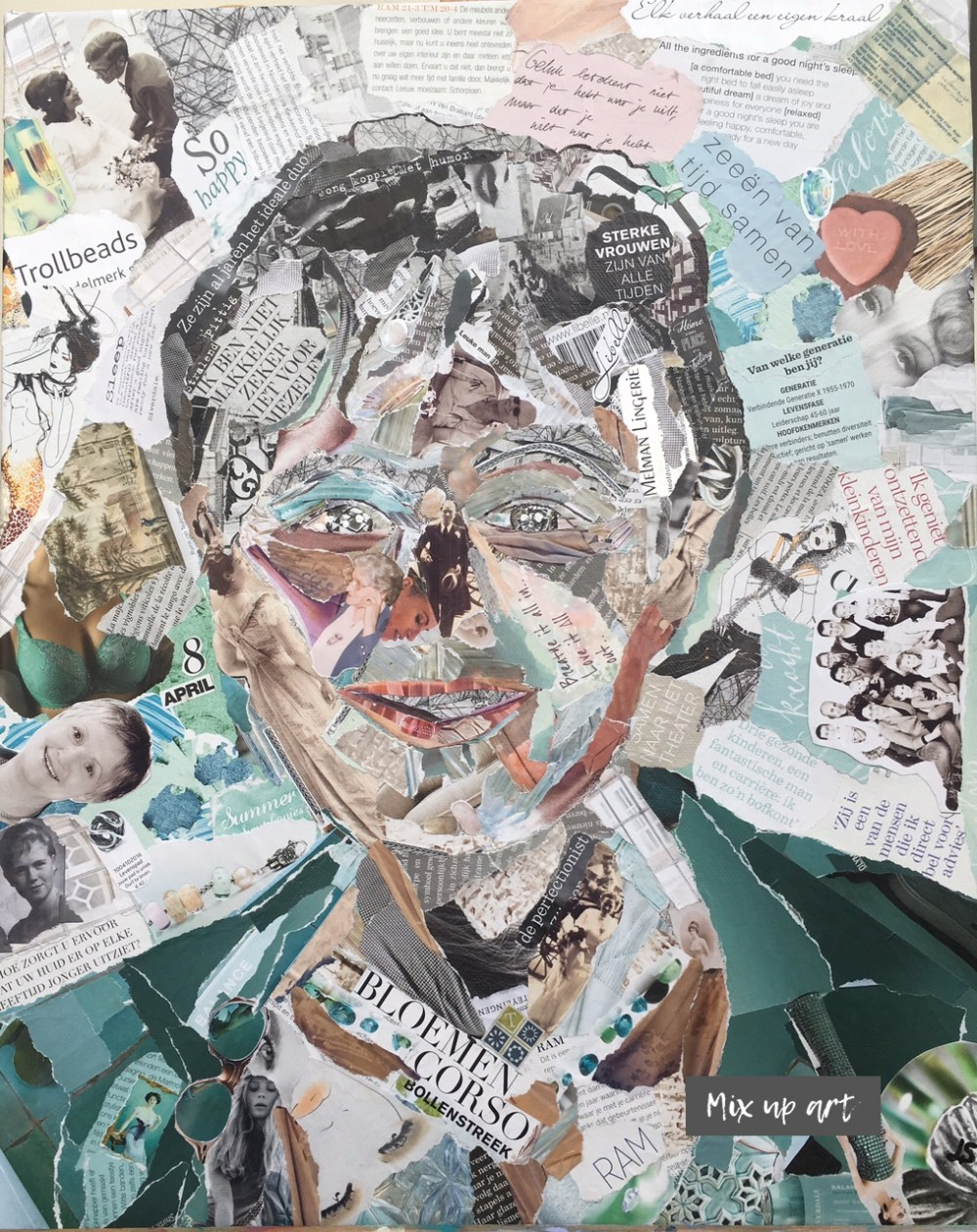 Annemieke - In opdracht - Collage (40 x 50)