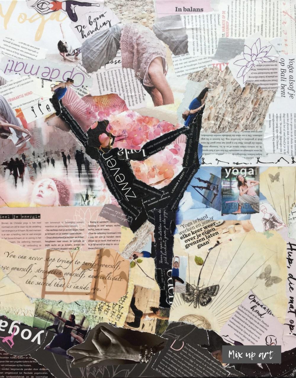 Body & Mind - € 500,- Collage (40 x 50)