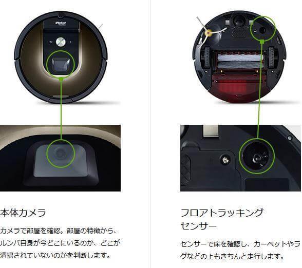 本体カメラとセンサーで効率よく掃除