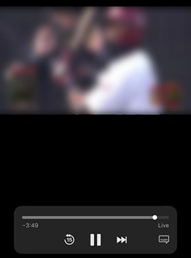 パリーグLIVEの試合画面