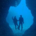 下地島の中の島で体験ダイビング