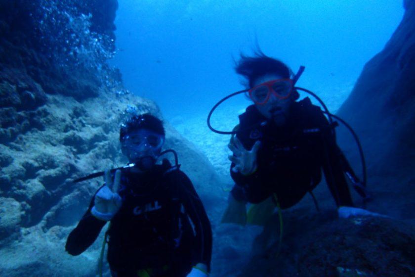 宮古島でカップルで体験ダイビング