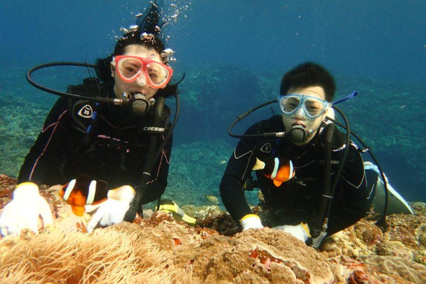 宮古島 カップルで体験ダイビング