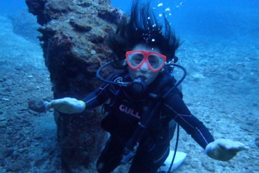 クロスホールで体験ダイビング