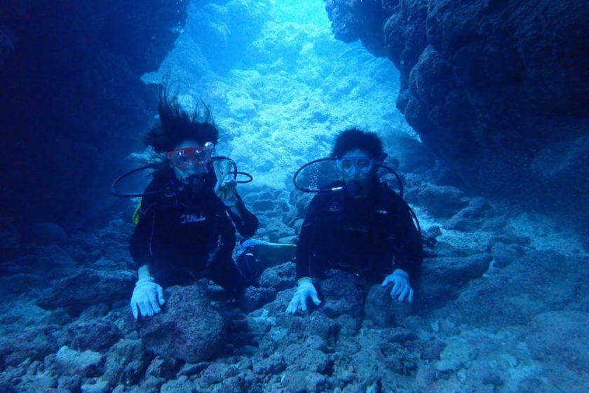 中の島チャネルで体験ダイビング