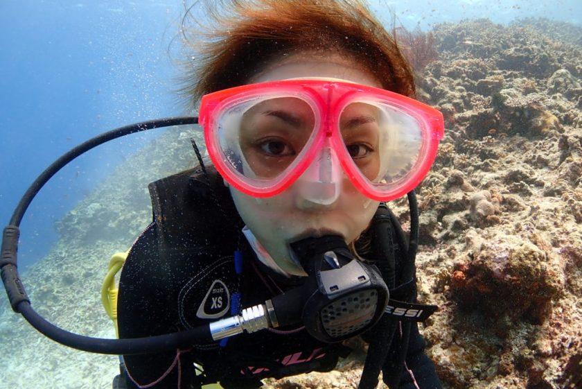 八重干瀬で体験ダイビング