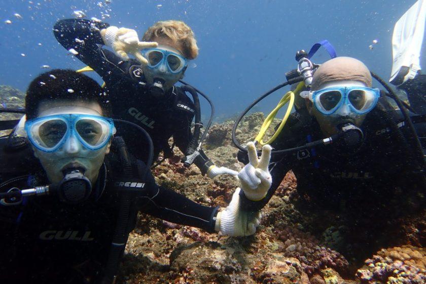 伊良部島のWアーチで体験ダイビング