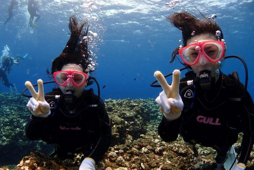 姉妹で体験ダイビング