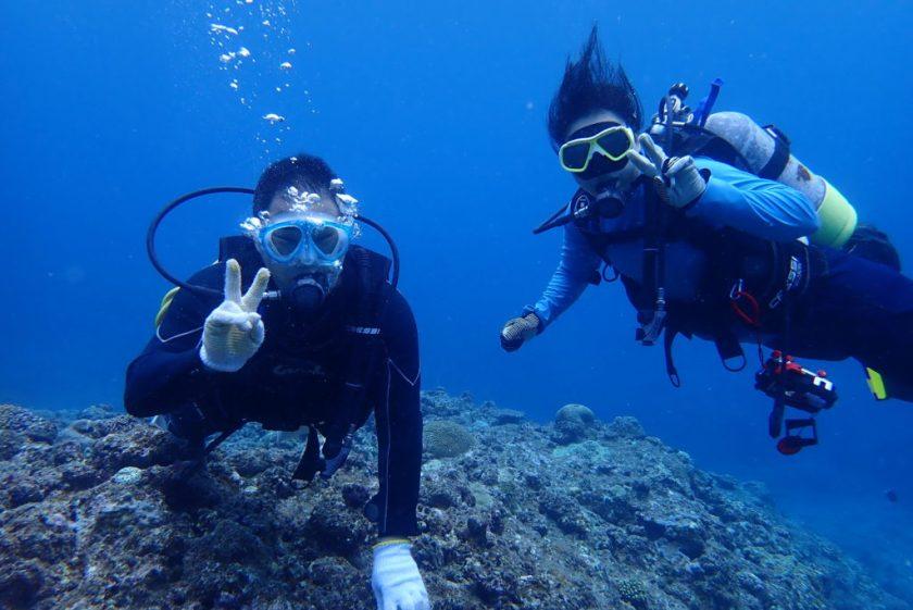 体験と一緒にダイビング