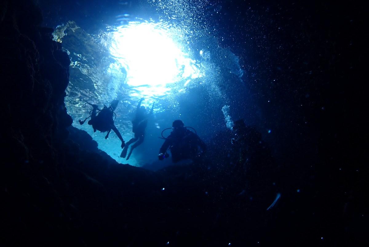 風向きが変わって下地へファンダイビングに体験ダイビング