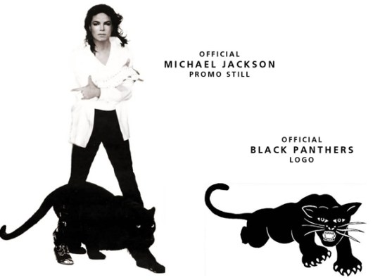 Michael and the Black Panther symbol