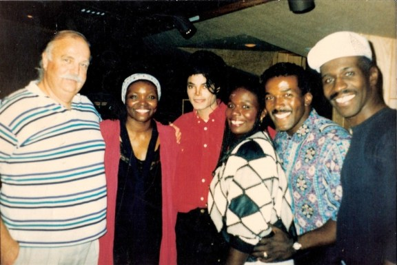 MJ, Bruce Swedien, Howard & Linda McCrary and ??