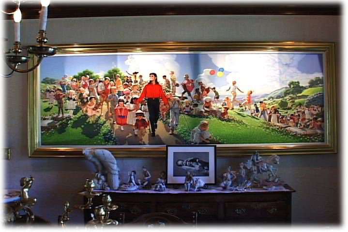 'Field of Dreams' in Michael's Neverland Formal Dining Room